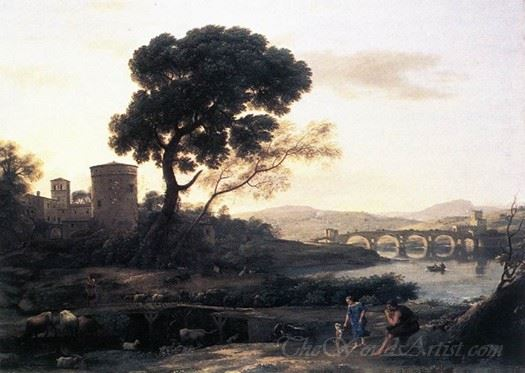 Landscape With Shepherds The Pont Molle