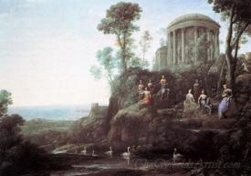 Apollo And The Muses On Mount Helion Parnassus