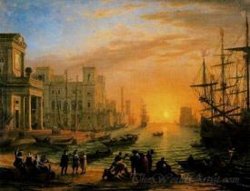 Seaport At Sunset