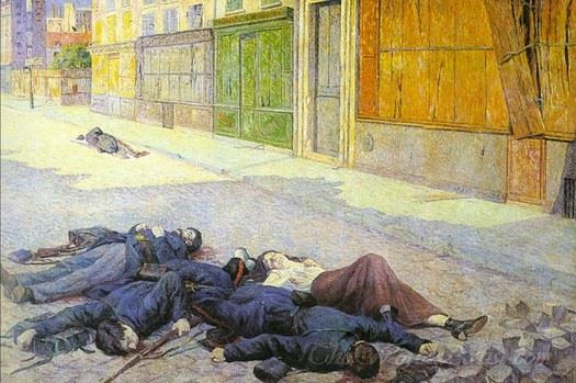 A Paris Street In May 1871 The Commune