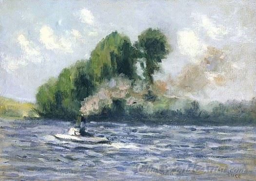 Rolleboise Remorqueur Sur La Seine  (Tug On The Seine Rolleboise)