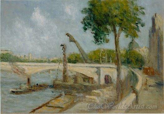 The Bridge Of Carrousel And The Quai Voltaire Paris