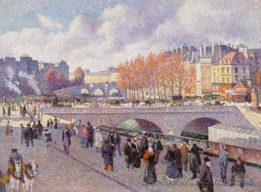 The Seine At Pont Saint Michel