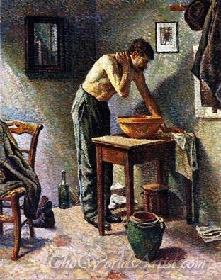 La Toilette  (Man Washing)