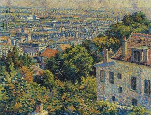 Montmartre De La Rue Cortot Vue Vers Saint Denis  (Montmartre From The Rue Cortot View To Saint Denis)