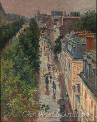 Scene De Rue A Paris  (Street Scene Paris)