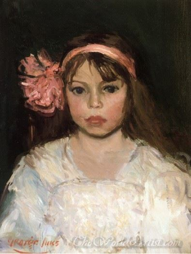 Girl With Pink Ribbon