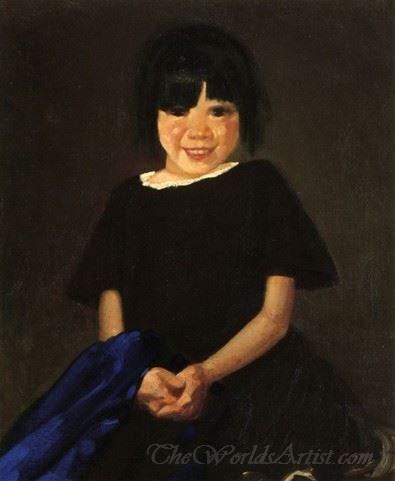 Portrait Of A Girl In Black
