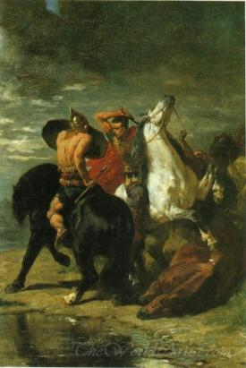Combat De Romains Et De Gaulois  (Combat Of Romans And Gauls)