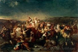 Deroute Des Germains Apres La Bataille De Tolbiac  (The Germans Routed After The Battle Of Tolbiac)