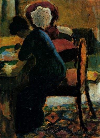 Elisabeth Am Schreibtisch  (Elisabeth At The Desk)