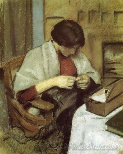 Elizabeth Gerhardt Sewing