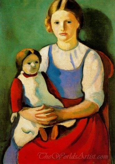 Blonde Girl With Doll