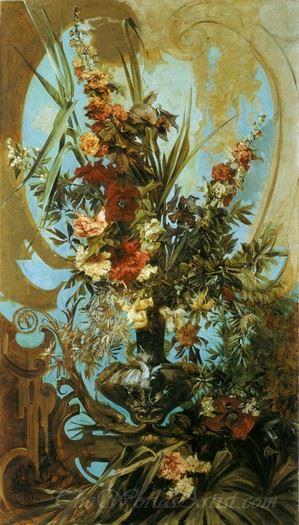 Grosses Blumenstuck  (Large Flower Stucco)