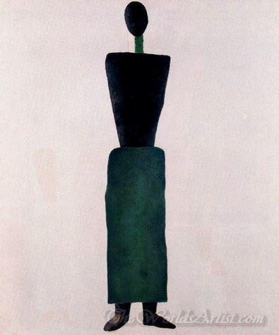 Suprematism Female Figure