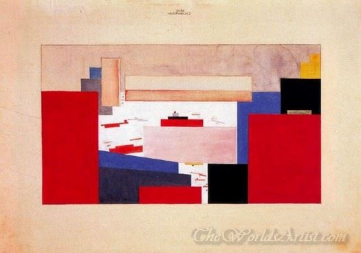 Suprematism Study For A Curtain
