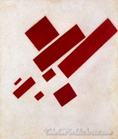 Suprematist Painting Eight Red Rectangle