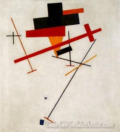 Suprematist Painting Lines