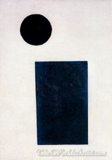 Suprematist Painting Rectangle And Circle