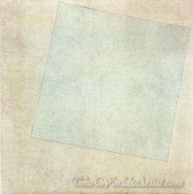 White Square On White