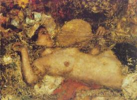 A Female Nude Reclining