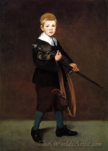 Boy Carrying A Sword