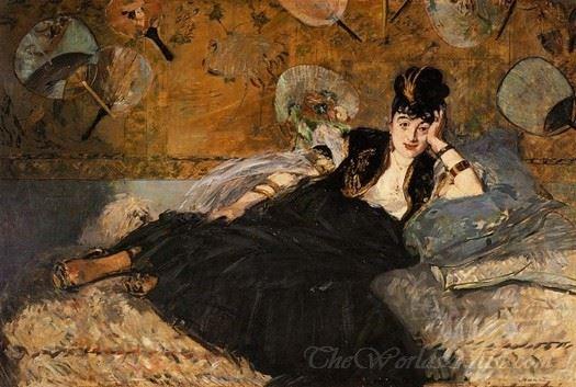 Lady With Fans Portrait Of Nina De Callais