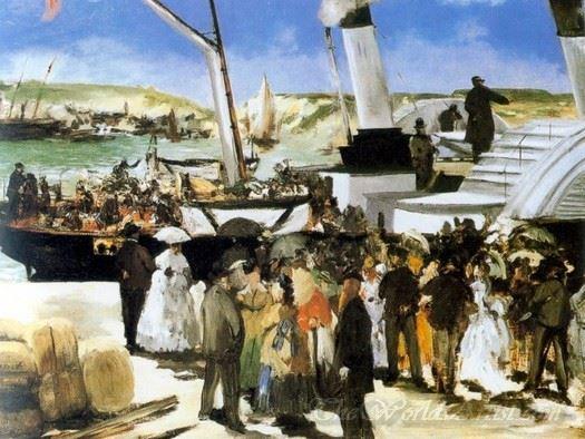 Le Depart Du Vapeur De Folkestone  (The Departure Of Steamship In Folkestone)