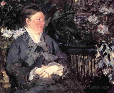 Madame Manet In The Greenhouse