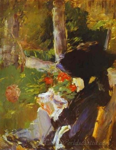 Manets Mother In The Garden At Bellevue