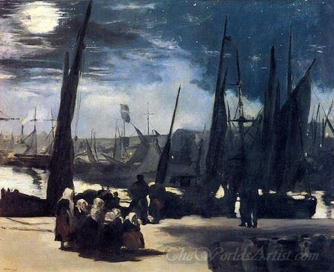 Moonlight Over Boulogne Harbor