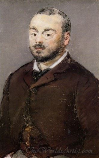 Portrait Of The Composer Emmanual Chabrier