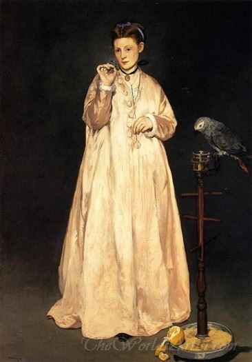 Young Lady With A Parrot