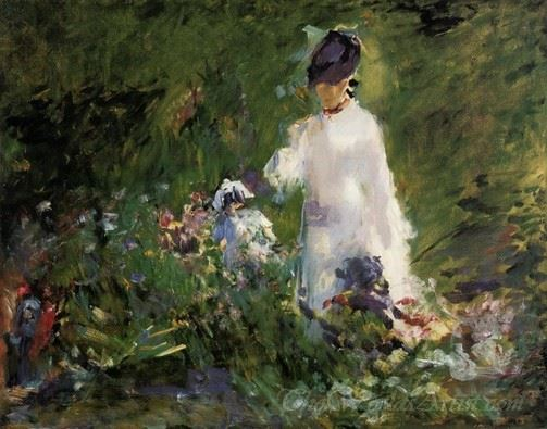 Young Woman Among The Flowers