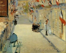 La Rue Mosnier Decked With Flags  (La Rue Mosnier Aux Drapeaux)