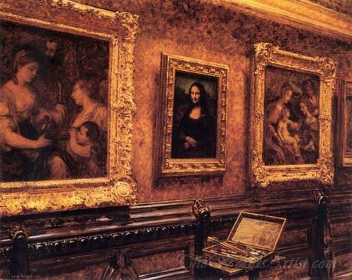Mona Lisa At The Louvre  (Mona Lisa Au Louvre)