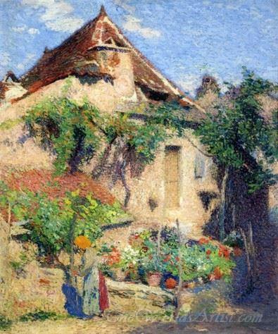 House And Garden At Saint Cirq Lapopie
