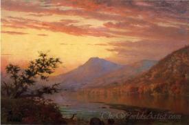 Sunset Adirondack Lake