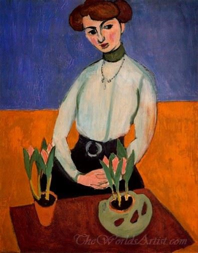 Joven Con Tulipanes  (Woman With Tulips)