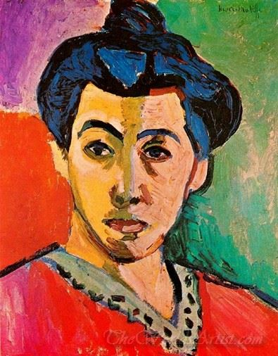 Portrait Of Madame Matisse  (The Green Stripe)