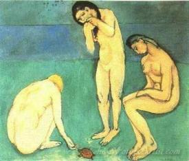 Bathers With A Turtle