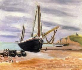 Boats At Etretat