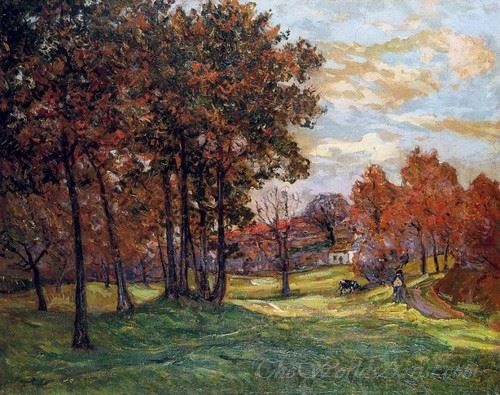 Autumn Landscape At Goulazon Finistere