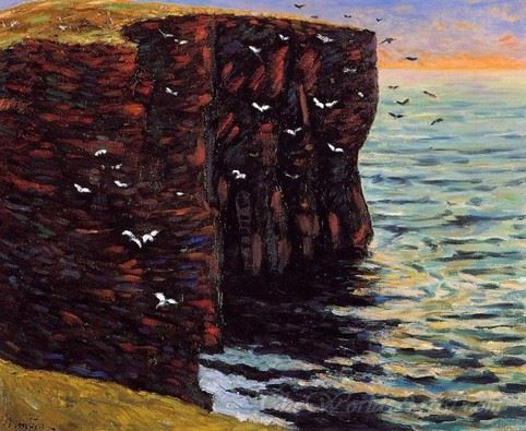 The Black Cliffs At Thurso Scotland