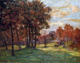 Autumn Landscape At Goulazon Finistere