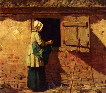A Peasant Woman By A Barn
