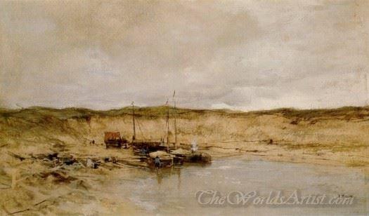 Sand Mine At Scheveningen