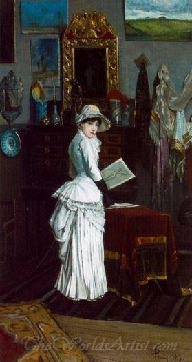 Estudio Del Pintor Con Su Primera Esposa  (Studio Of The Painter With His First Wife)