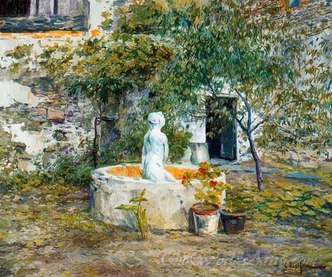 Jardin Con Fuente  (Garden With Fountain)