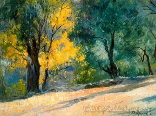 Paisaje Con Arboles Bajo El Sol  (Landscape With Trees Under The Sun)